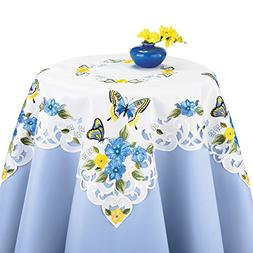 Collections Etc Embroidered Spring Table Linens with Butterf