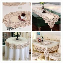 Embroidered Table Runner Dining Table Cloth Cover Mats Weddi