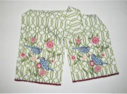 Pier One  EMBROIDERED TABLE RUNNER  Pier 1  FLORAL WITH BIRD