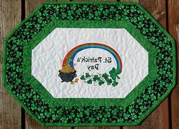 Handcrafted Embroidered Table Runner Topper ST PATRICK'S DAY