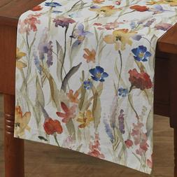"ENCHANTMENT FLORAL TABLE RUNNER 13"" x 36"" Summer Spring Park"