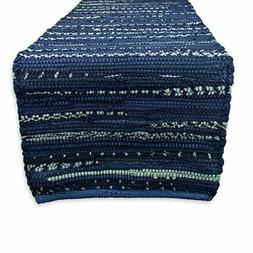 DII Everyday Machine Washable Chindi Rag Table Runner, 14 X