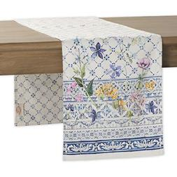 Maison d' Hermine Faïence 100% Cotton Table Runner 14.5- In