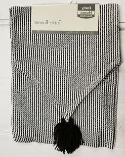 Fabric Printed Table Runner  BLACK & WHITE COLORS, Daily Hom