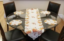 Pre-Fall Sale! Fall Table Runner - Fall Doily Table Mats Set