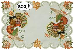 fall thanksgiving turkey placemats table cloth runner