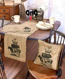 Farmhouse Style Kitchen Linens Place Mats Table Runner Accen
