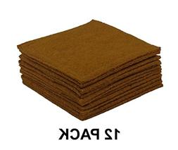 Cotton Craft - 12 Pack Felt Reversible Coasters - Honey - 4
