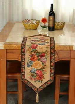 Tache 13 X 48 Floral Country Rustic Morning Awakening Woven