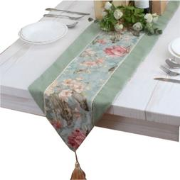 floral rustic table runner both