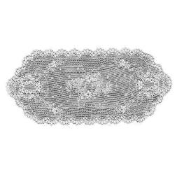 Heritage Lace Floret 14-Inch by 38-Inch Runner, Ecru
