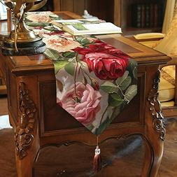 Flowers Table Runner Top Grade Velvety - MeMoreCool Beautifu