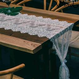 <font><b>16</b></font> x 120 Inch White Lace <font><b>Table<