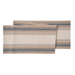 "13x72"" French Blue Stripes Table Runner"