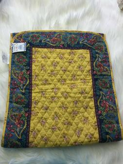 """French Country Table Runner 72"""" NWT Quilted Yellow Blue Red"""