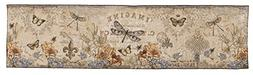 Simply Home French Country Vintage Floral Dragonfly Woven Ta