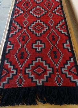Fringe Jacquard OBRun-5 Table Runner Southwest Southwestern