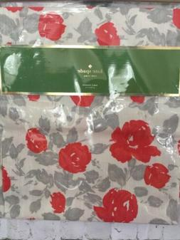 Kate Spade Garden Rose Table Runner 100% Cotton Grey/Coral 1