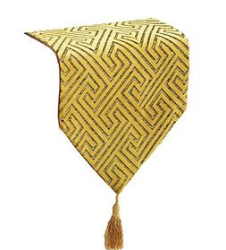 Yoovi Geometric Pattern Table Runner with Tassels for Home O