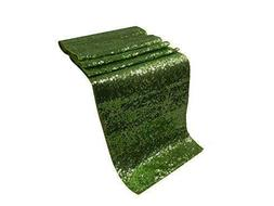 ELINA HOME Glitter Green Sequin 13x108 Table Runner Wedding,