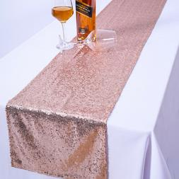 Glitter Sequin Table Runner Shinny Tablecloth Linens Party W