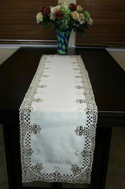 Grant Linen Embroiddery Table Runner and Placemat