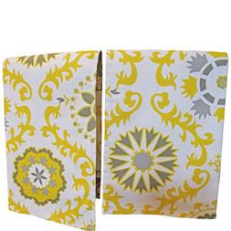 Crabtree Collection Gray/Yellow Medallion Kitchen Dish Towel