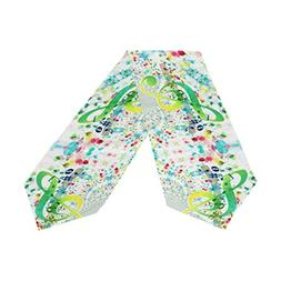 ABLINK Green Musical Note Rainbow Of Colors Word Polyester T