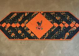 Halloween Handmade Quilted Table Runner 13x40