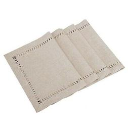 handmade hemstitched polyester rectangle table placemats 12x