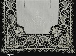 Creative Linens Handmade Reticella Lace Needle Lace Placemat