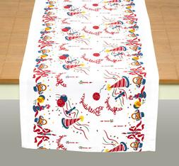 happy birthday vintage style table runner by