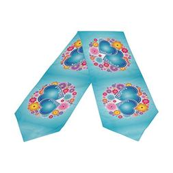 ABLINK Holiday Valentine Love Hearts Blue Sea Polyester Tabl