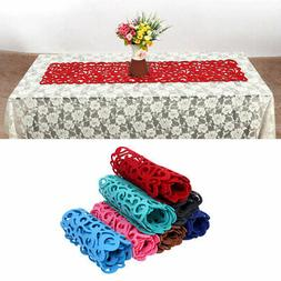 Hollow Felt Tablecloth Runner Placemats Table Mats Household