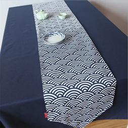 Home Deco Cotton Linen Table Runner Flag Yellow or Grey Geom