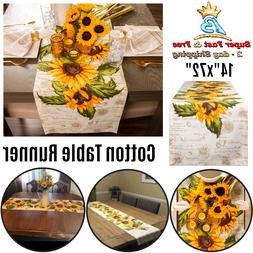 Home Rustic Sunflowers Fresh Summer Style Floral Decor Cotto