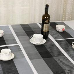 Non Slip PVC Table Place Mats Table Runner Heat Insulation P