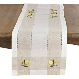 SARO LIFESTYLE Hommage Brodé Collection Embroidered Lemon H