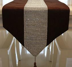 HSE 30x180cm Table runner European-style luxury diamond dark