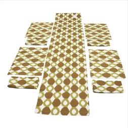Ikat Collection Chartreuse Table Runner Place mat Napkins Se