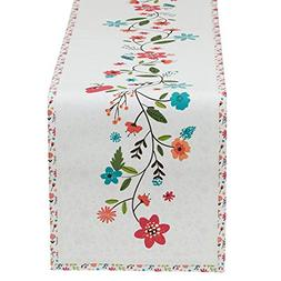 Design Imports Garden Party Floral Spring Time Table Runner