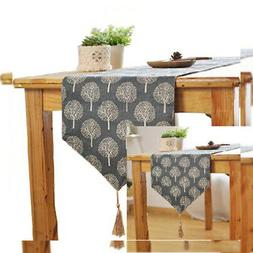 Aothpher 12 inch by 55 inch Rustic Tree Table Runner Cotton