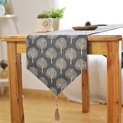 Aothpher 12 inch by 78 inch Rustic Tree Table Runner Cotton