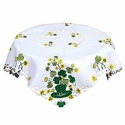Simhomsen Irish Clover Square Tablecloth for St. Patrick's
