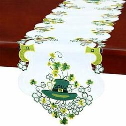 Simhomsen Irish Clover Table Runners for St. Patrick's Day