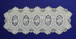 Lace Place Mats and Table Runners Ivory Cameo Rose Livingroo