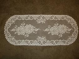 Lace Table Runner Ivory Roses design