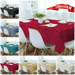 Jacquard Damask Floral Large Table Cloth Party Catering Tabl