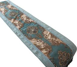 Yoovi Jacquard Floral Table Runner Rectangle Luxury with mul