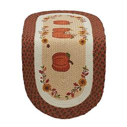 DII 14x36 Jute/Burlap Table Runner, Country Pumpkins - Perfe
